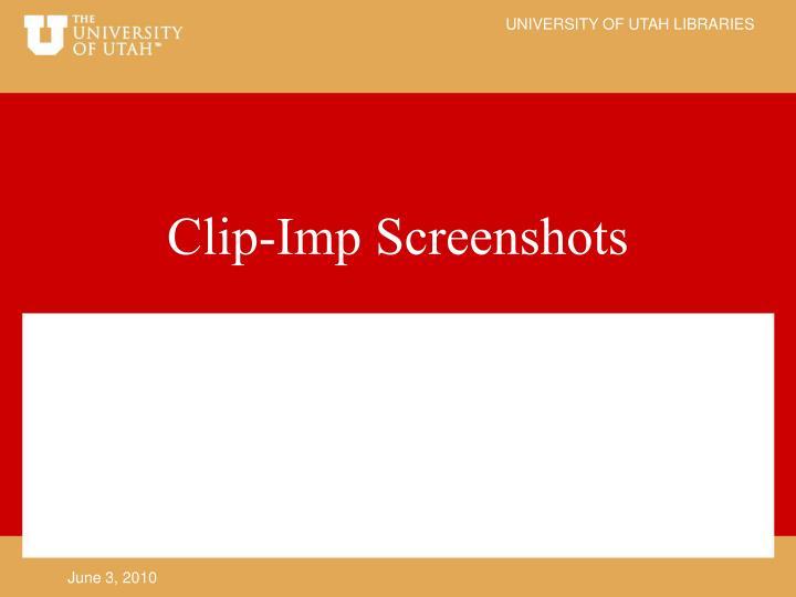 Clip-Imp Screenshots