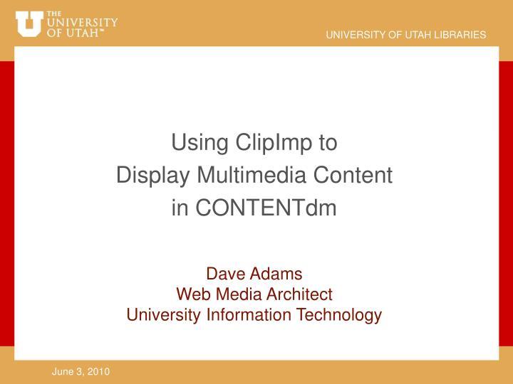 Using ClipImp to