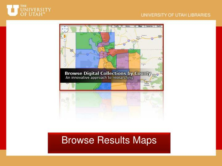 Browse Results Maps