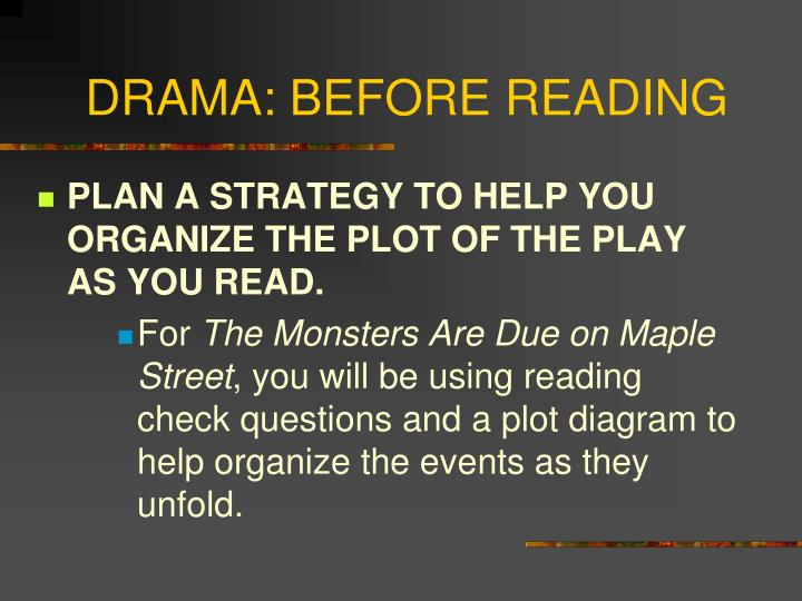 Ppt the elements of drama powerpoint presentation id7044781 drama before reading ccuart Images
