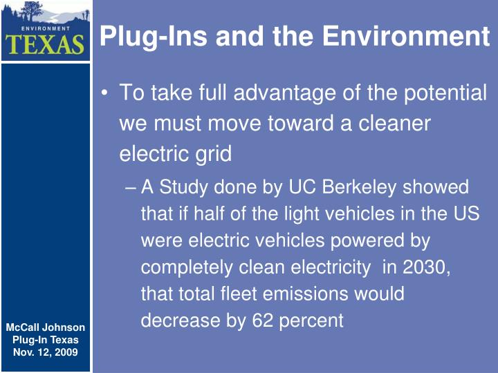 Plug-Ins and the Environment