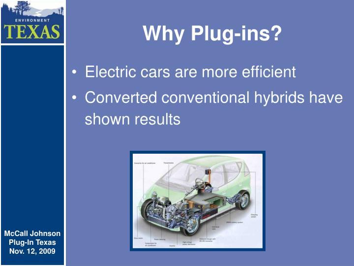 Why plug ins