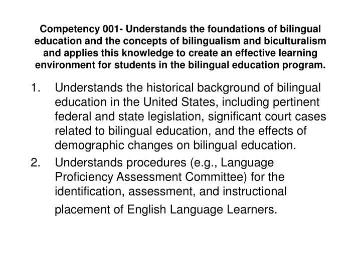 Ppt bilingual education standards powerpoint presentation id7044817 competency 001 understands the foundations of bilingual education toneelgroepblik Gallery
