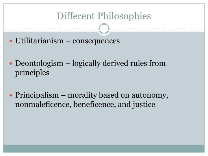 Different Philosophies
