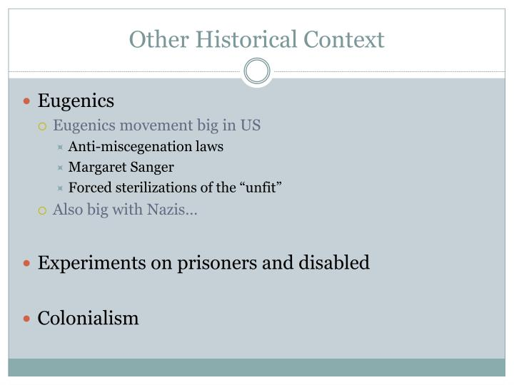 Other historical context