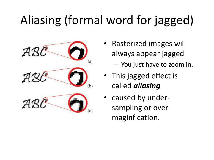 Aliasing (formal word for jagged)