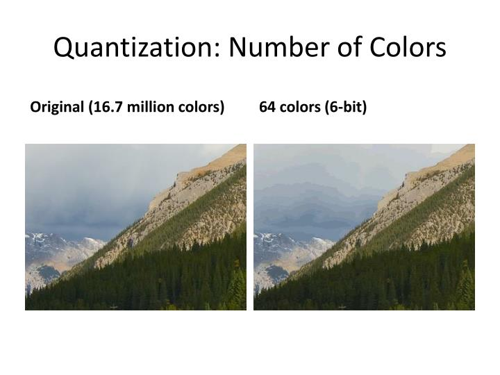 Quantization: Number of Colors