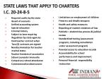 state laws that apply to charters i c 20 24 8 5