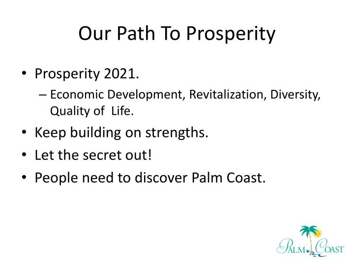 Our path to prosperity