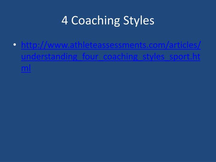 4 Coaching Styles