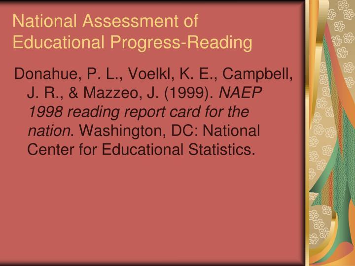 National Assessment of Educational Progress-Reading