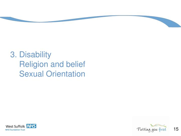 3. Disability
