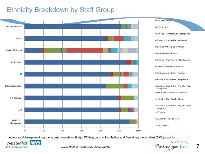 Ethnicity Breakdown by Staff Group