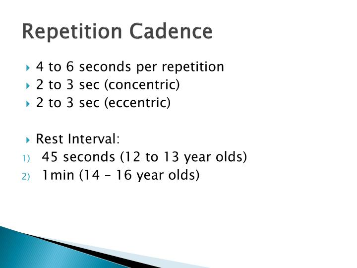 Repetition Cadence