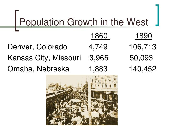 Population Growth in the West