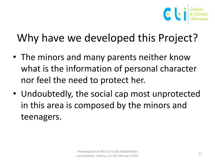 Why have we developed this Project?