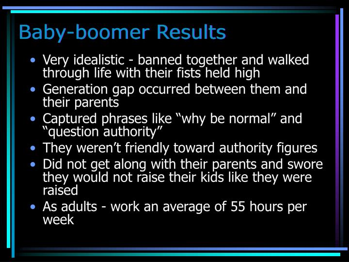 Baby-boomer Results
