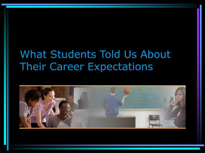 What Students Told Us About Their Career Expectations