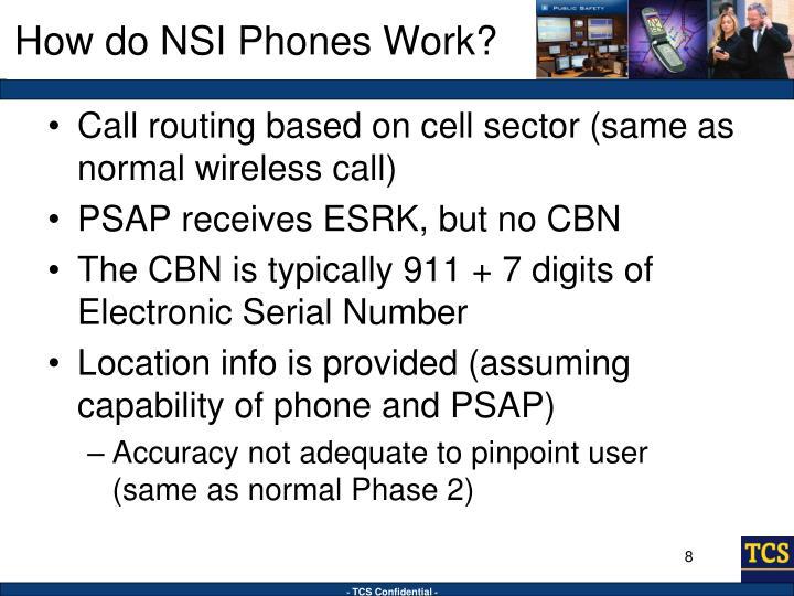 How do NSI Phones Work?