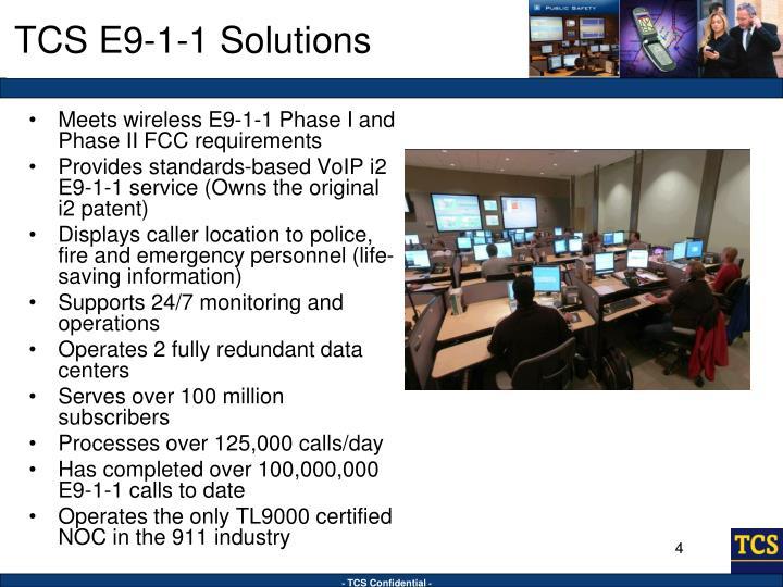TCS E9-1-1 Solutions