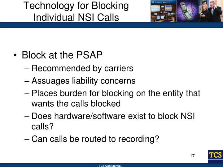 Technology for Blocking Individual NSI Calls