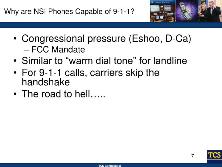 Why are NSI Phones Capable of 9-1-1?
