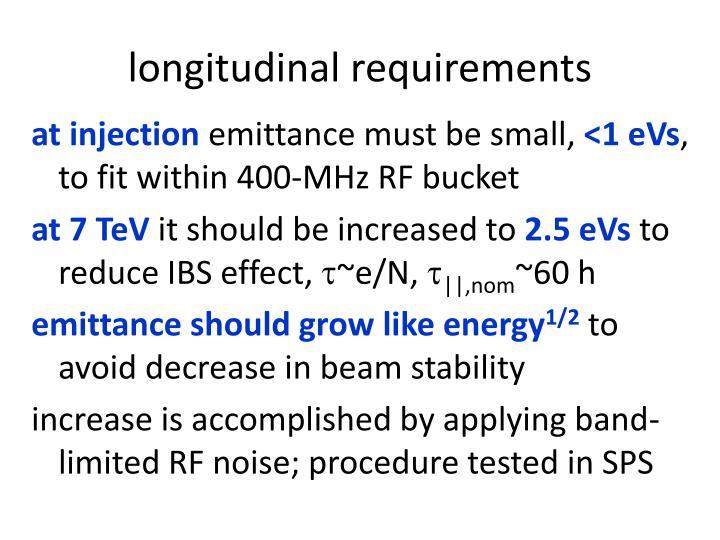 longitudinal requirements