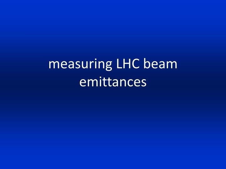 measuring LHC beam emittances