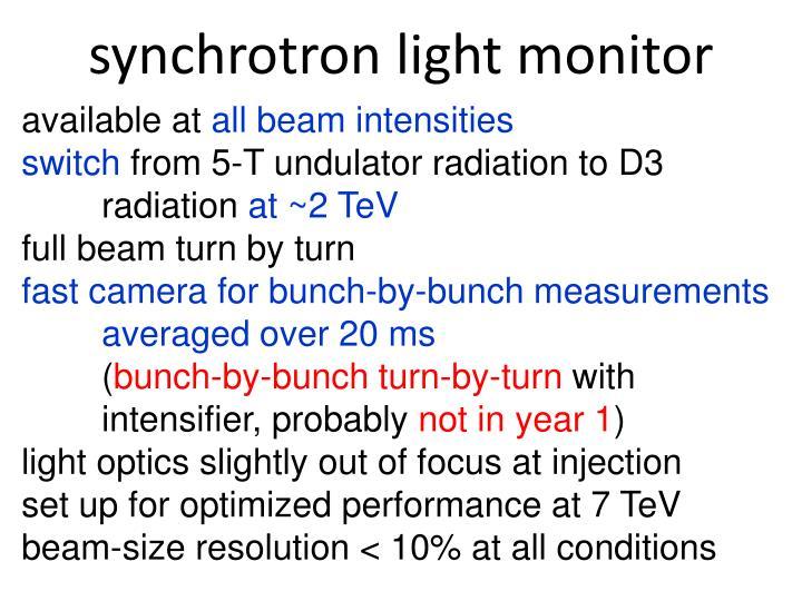 synchrotron light monitor