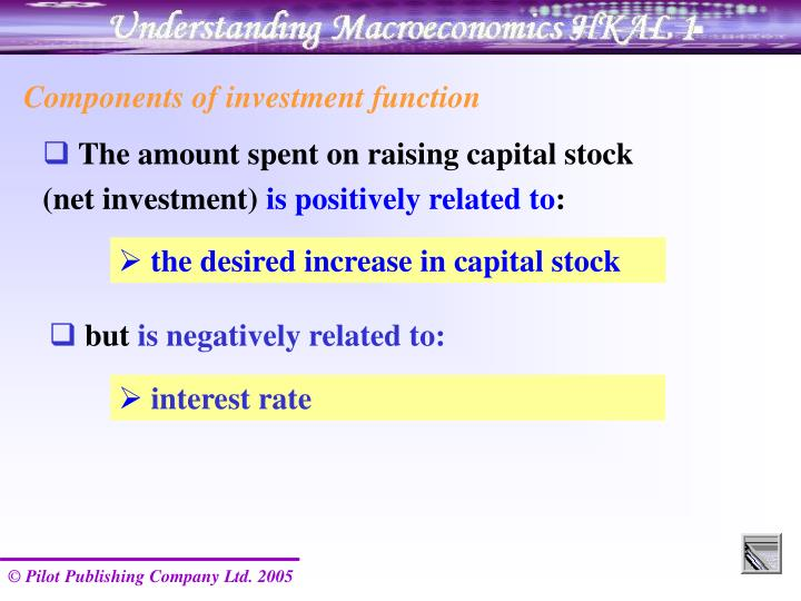 Components of investment function
