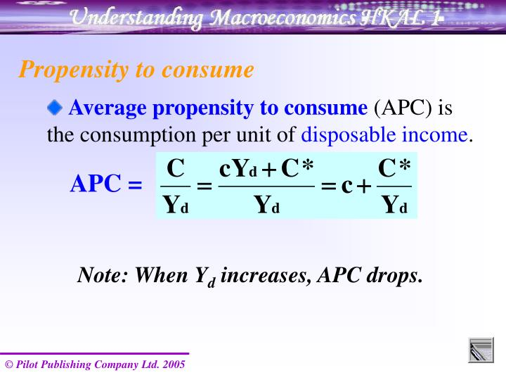 Propensity to consume