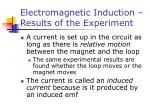 electromagnetic induction results of the experiment