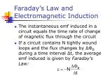 faraday s law and electromagnetic induction