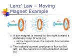 lenz law moving magnet example