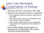 lenz law revisited conservation of energy