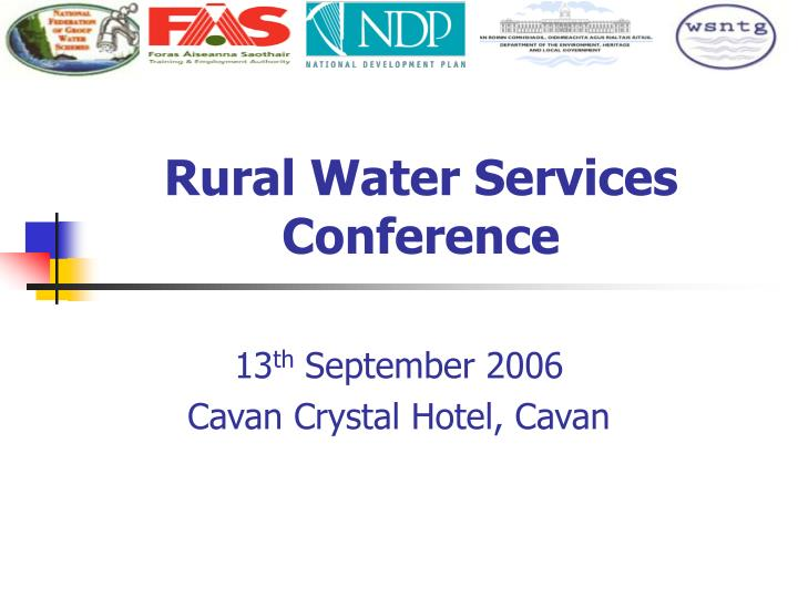 rural water services conference n.