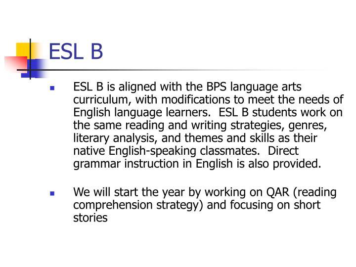 Esl b
