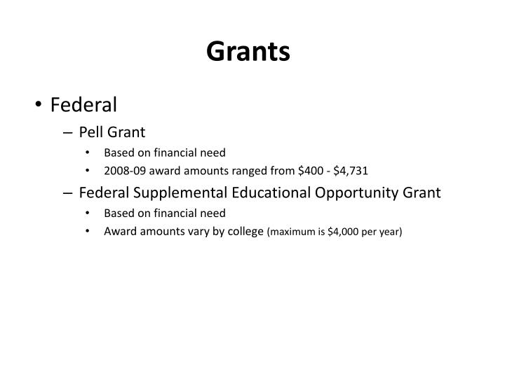 Federal Pell Grant For Room And Board