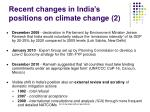recent changes in india s positions on climate change 2