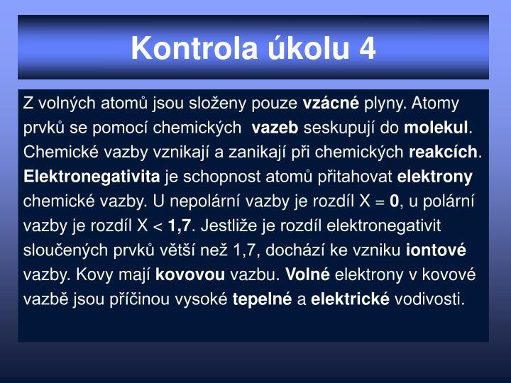 Kontrola úkolu 4