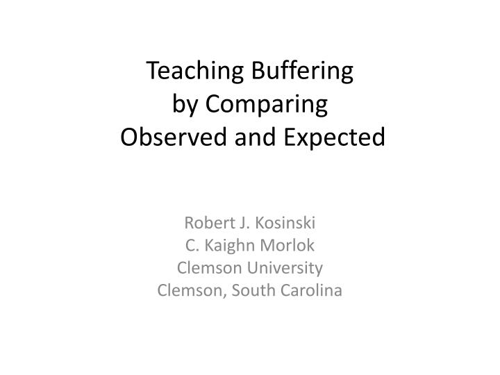 teaching buffering by comparing observed and expected n.