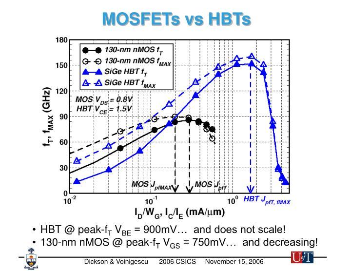MOSFETs vs HBTs