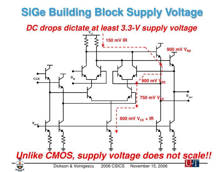 SiGe Building Block Supply Voltage