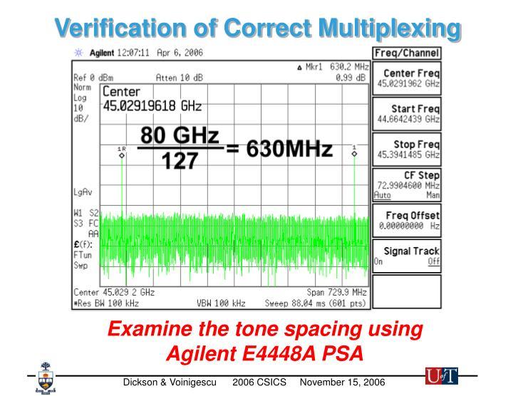 Verification of Correct Multiplexing