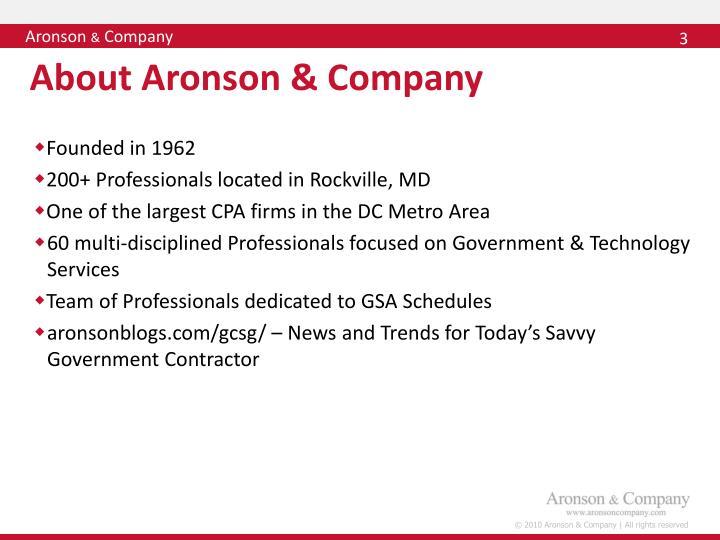 About aronson company
