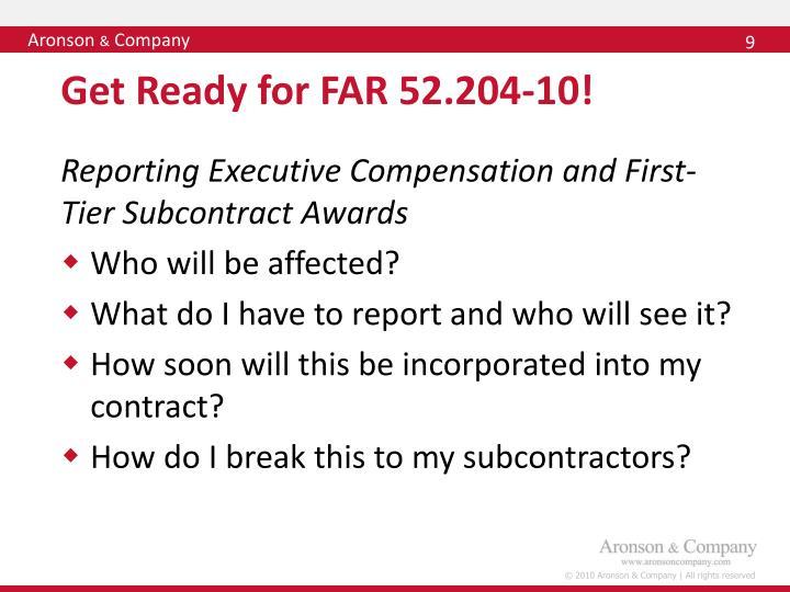 Get Ready for FAR 52.204-10!