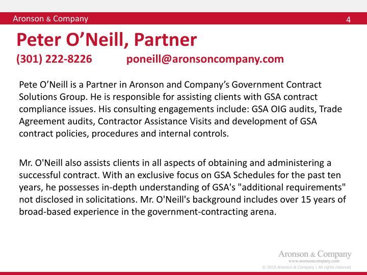 Peter O'Neill, Partner