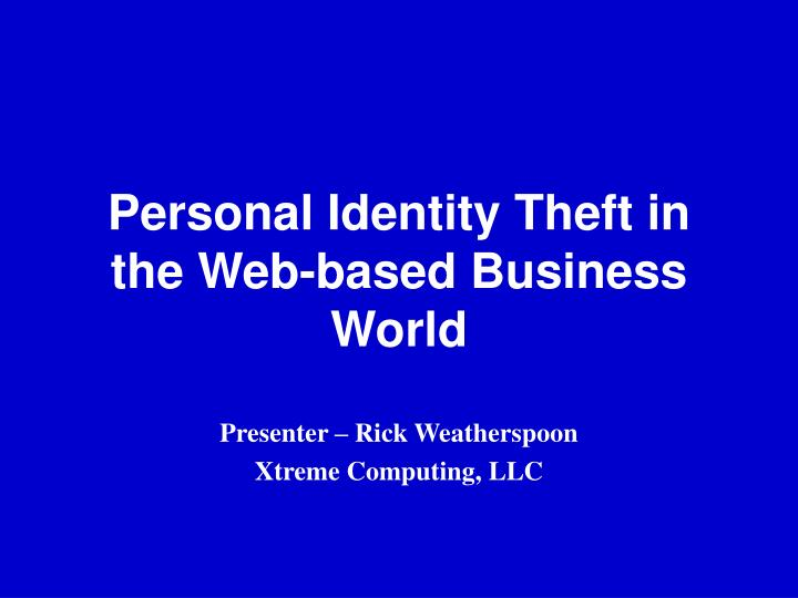 an analysis of the problem of personal identity