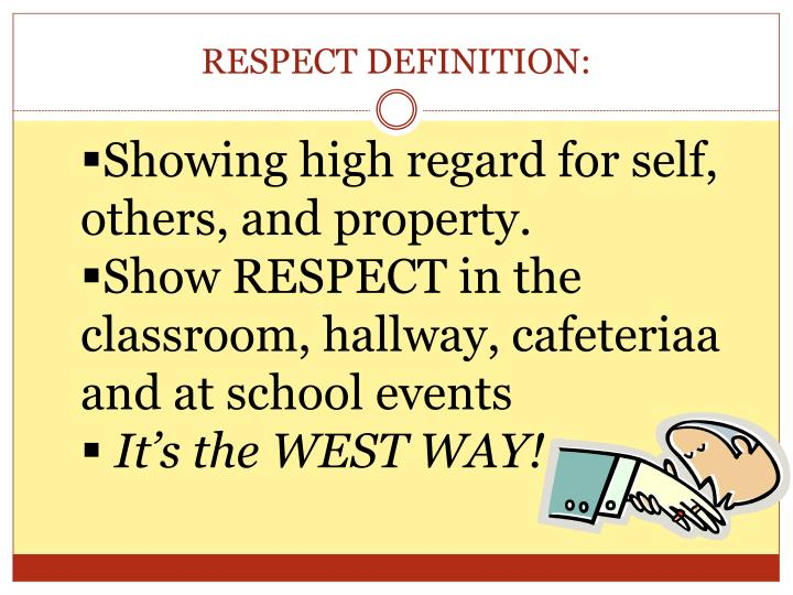definition of showing respect
