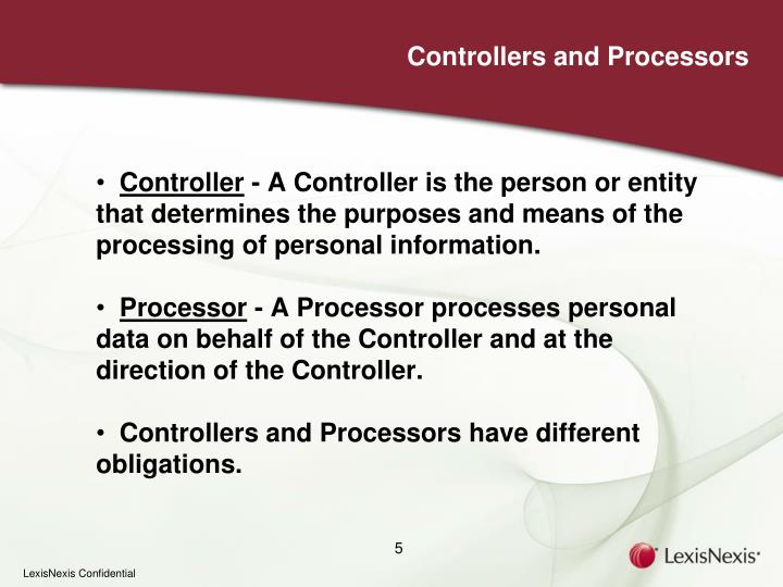 Controllers and Processors